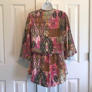 Elan Dresses - ELAN Shorts Romper with long wide sleeves, Sz M